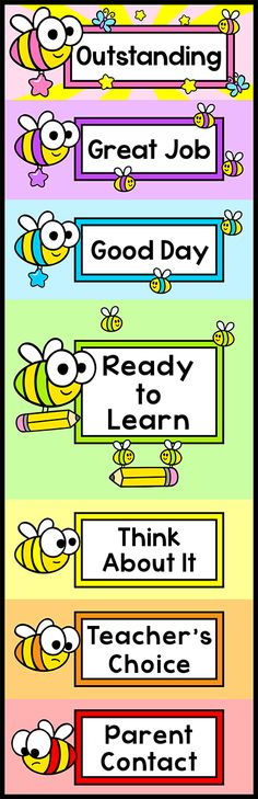 Keep your busy bees on track with this bee theme behavior clip chart. It will look fantastic on your classroom wall! By Pink Cat Studio