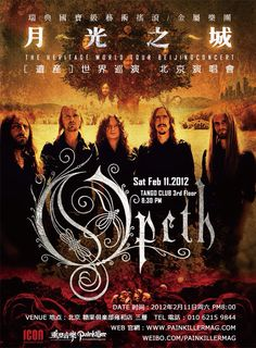 Opeth tour poster