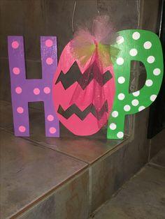 Easter Hop door hanger