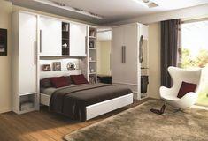 Très pratique, le système du lit pont permet de conjuguer lit et rangement au-dessus. Meuble Pluriel de Compo chez Monsieur Meuble.