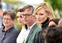 Cate Blanchett, Todd Haynes, Phyllis Nagy and Rooney Mara at event of Carol (2015)