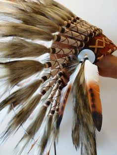 For Children: Indian three colors brown by THEWORLDOFFEATHERS