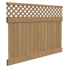 6 Ft. X 8 Ft. Yellowstone Lattice Top Cypress Vinyl Fence Panel Kit