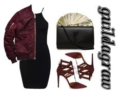 """Untitled #602"" by guildagraw ❤ liked on Polyvore featuring Aquazzura and Yves Saint Laurent"