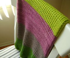 Despite the rising temperature outside, I really enjoyed knitting this baby blanket inspired by Purl Bee's Super Easy Baby Blanket. The original blanket is knit entirely in garter stitch but since ...