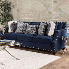 Cornelia Sofa - SM3071-SF Description : Add a statement to your home with this fashion-forward sofa collection. A perfect example of fine taste and luxurious style with perfectly placed nailhead trim,