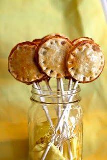 Pie Pops! For a fall wedding, pumpkin, apple, pecan!!