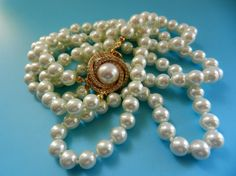 Gorgeous 2strand cascade pearl necklace Vtg by RAKcreations, $64.00