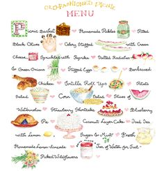 Summer picnic - click the words for the recipes
