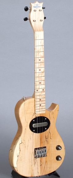 Blue Star Konablaster Deluxe Electric Tenor Ukulele Blonde Bomber Edition --- https://www.pinterest.com/lardyfatboy/