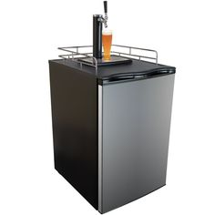 Keggermeister KM2800SS Kegerator Full-Size Single-Tap Beer Refrigerator and Dispenser, Stainless Steel * This is an Amazon Affiliate link. Want additional info? Click on the image.