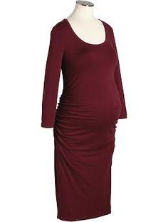 Maternity Scoop-Neck Jersey Dresses