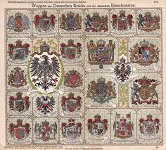 Deutsches Reich (Kaiserreich) | deutsche-schutzgebiete.de Oldenburg, Dresden, World War I, Coat Of Arms, Bohemian Rug, Vintage World Maps, Germany, History, Poster