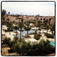Pools of the Four Seasons Hotel, Marrakech, Morocco
