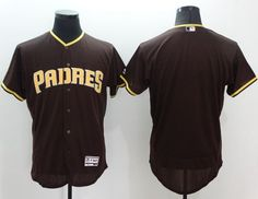 Padres Blank Brown Flexbase Authentic Collection Stitched MLB Jersey