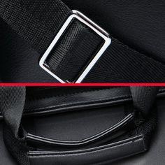 Men PU Business Casual Black Brown Shoulder Messenger Bag Handbag