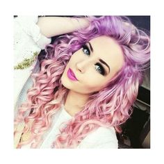 Pink and Purple Curls found on Polyvore featuring polyvore, beauty products, haircare, hair styling tools, blow dryers & irons, hair and icon pics