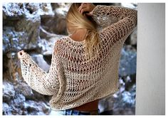 Loose Knit Sweater in Ivory by munamiu on Etsy, $69.00