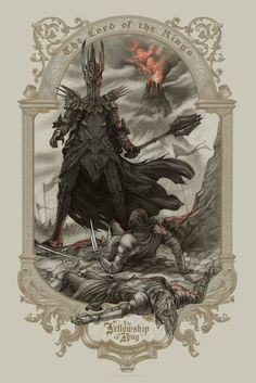 The Geeky Nerfherder: #CoolArt: 'The Lord Of The Rings: The Fellowship O...