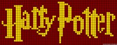 Harry Potter logo perler bead pattern