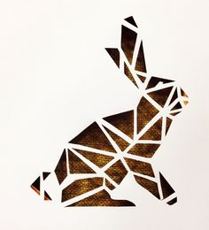 Canvas cutout #rabbit