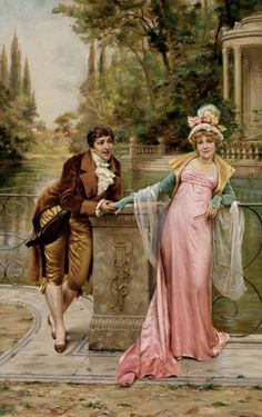 The Proposal by Frederic Soulacroix (French, 1825-1879)