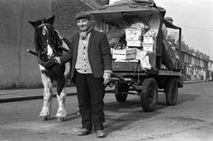 Street trader selling vegtables in the streets of Barking - Steve Lewis 1960s photographer - lots more at link