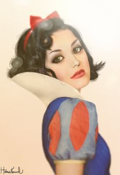 Snow White. Beautiful hazel eyes.