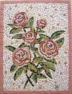 Mosaics24 - Ψηφιδωτά: Ψηφιδωτά :Λουλούδια/Mosaics:Flowers