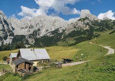 AUF DER ALM DA GIBT'S KOA SÜND Niki und Peter verbringen ihren Sommer gerne auf der Loseggalm bei Annaberg. Mit Käse, Jersey-Rindern, Schweinen und Pferden.