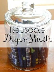 Up-Cycled Reusable Dryer Sheets