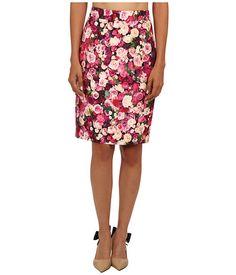 Kate Spade New York Rose Print Pencil Skirt Cildro Pink Photoreal Roses - 6pm.com