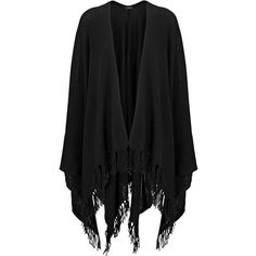 Joseph Spring Cashmere Poncho in BLACK (7.655 NOK) ❤ liked on Polyvore featuring outerwear, black, cashmere poncho and wrap poncho