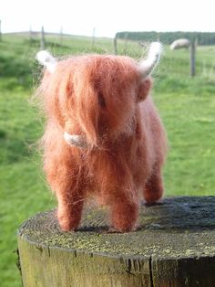 Needle felted Highland Cow