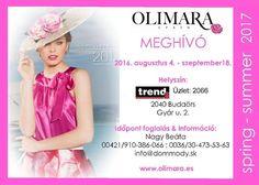 KERESKEDŐKNEK SZÓLÓ AJÁNLATUNK Elindult az előrendelési időszak az új női márka ruháira. Olimara – a rózsa márkája … A spanyol márka, mely különleges, egyedi mintákkal, színekkel kombinált ruhákkal van jelen a divat világában. Ezúton szeretettel várjuk a viszonteladókat a Trend2 2066-os üzletében.