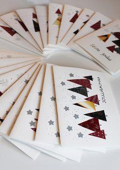 Madam B.C.: DIY: Helpot joulukortit 2017. Homemade Christmas Cards, Christmas Crafts, Xmas Cards, Greeting Cards, Advent, Making Ideas, Card Making, Diy Crafts, Martini