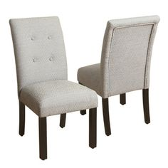 Shop For HomePop 4 Button Tufted Black And Tan Parsons Chair. Get Free  Shipping