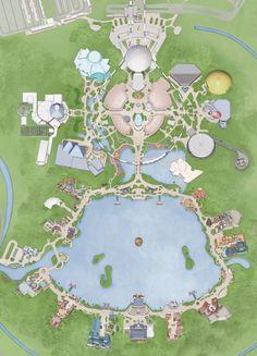 Walt Disney World, Epcot - Park Map