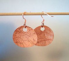 The Craft In Me: Copper Textured Earrings