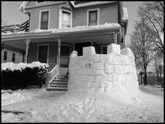 59 Build a Snow Fort Ideas (BandW Photos)
