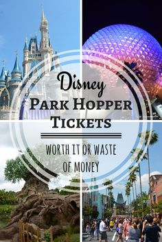 Wondering if park hopper tickets it are worth it on your Disney vacation? Whether you are traveling to Walt Disney World or Disneyland, find out whether and when this ticket upgrade is worth the splurge when you are on a Disney budget. Disney Money, Disney Tickets, Disney On A Budget, Disney World Vacation Planning, Disney Destinations, Disney Vacation Club, Disney World Parks, Walt Disney World Vacations, Disney World Resorts