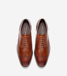 295e6a802b04b5 Cole Haan Jefferson Grand Wingtip Oxford - British Tan Select M Medium