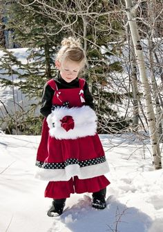 Santa Baby Knot Dress Matching Ruffle Pants, Turtle Neck & Fur Muff Available6 Months to 14 YearsPerfect for Christmas Portraits!