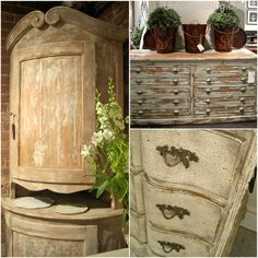 Washed Grained Wood Furniture | Endless color + finish inspiration for Chalk Paint® decorative paint by Annie Sloan projects | High Point Furniture Market | The Unfolded blog