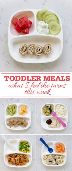 Toddler Meals: What I fed the twins this week