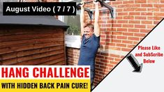Hang Challenge with Lower Back Pain Benefits. Lower Back Pain Relief, Low Back Pain, The Cure, Challenges, Exercise, Excercise, Ejercicio, Exercise Workouts, Physical Exercise