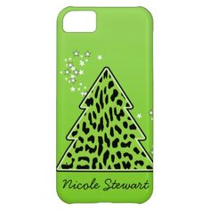 Leopard cheetah Christmas Tree iPhone 5 Case