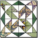 "Colorado Pass Quilt Block Pattern and Instructions12"" block"