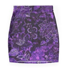 Purple Vintage Floral Shimmer