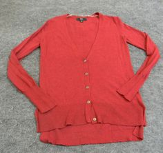 Mossimo Burgundy (Red) Long Sleeve Cardigan Sweater Buttons up Front Size XS #Mossimo #Cardigan